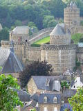 Chateau fort de Fougeres ( France ) Stock Photography