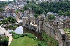 Chateau, Fougeres, Brittany, France royalty free stock photo