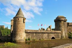 Chateau, Fougeres  France Stock Photo