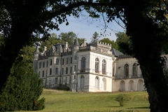 chateau france Royaltyfri Bild