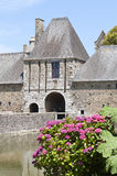 chateau france historiska normandy Royaltyfri Fotografi