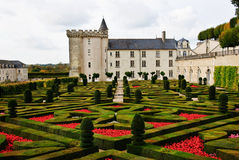 chateau france villandry Loire Valley Royaltyfria Foton