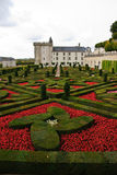 chateau france villandry Loire Valley Royaltyfria Bilder