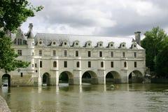 Chateau francese sul Loire Fotografia Stock Libera da Diritti