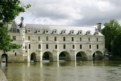 chateau francuzi Loire Fotografia Royalty Free