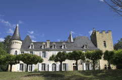 Chateau in Frankrijk Stock Afbeelding