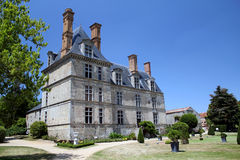 Chateau In French Countryside. The chateau known as Château de la Guignardiere, located in Avrille, France royalty free stock photography