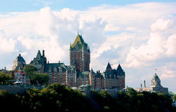 Historic Le Chateau Frontenac, Quebec City Stock Images
