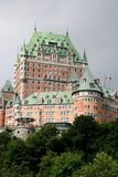 Chateau Frontenac. Famous hotel in Quebec City Royalty Free Stock Image