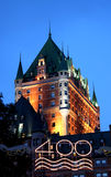 Chateau Frontenac. Landmark Hotel in Quebec City, Canada Stock Photos