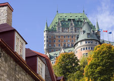 Chateau Frontenac in autumn, Quebec City stock photography