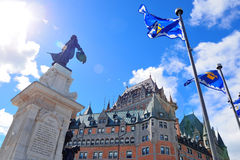 Chateau Frontenac in the day Royalty Free Stock Photography