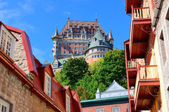Chateau Frontenac in the day Stock Images