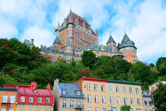 Chateau Frontenac in the day Stock Image