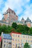 Chateau Frontenac in the day Stock Photo