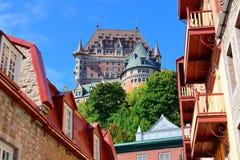 Chateau Frontenac in de dag Stock Afbeeldingen