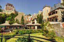 Chateau Frontenac in de Stad van Quebec, Canada Stock Afbeeldingen