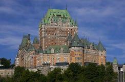 Chateau Frontenac in de Stad van Quebec, Canada Stock Foto's