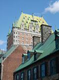 Chateau Frontenac hotel exterior Royalty Free Stock Photography