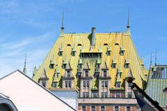 Chateau Frontenac Hotel in Quebec City Royalty Free Stock Image