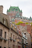 Chateau Frontenac From Lower Quebec Royalty Free Stock Photo