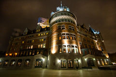 Chateau Frontenac during night Royalty Free Stock Photography