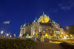 Chateau Frontenac At Night, editorial. Quebec City - June 20: Chateau Frontenac in Quebec City, Canada at  night on June 20, 2013 Royalty Free Stock Images