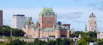 Chateau Frontenac of Old Quebec Stock Image