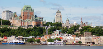 Chateau Frontenac of Old Quebec Royalty Free Stock Images