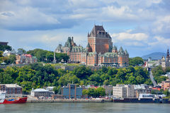 Chateau Frontenac of Old Quebec Stock Photography