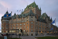 Chateau Frontenac - Quebec Stock Foto's