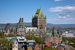 Chateau Frontenac, Quebec. The picture of Chateau Frontenac, Quebec Stock Photography