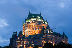 Chateau Frontenac in Quebec. Chateau Frontenac, best known landmark of Quebec, Canada royalty free stock photography