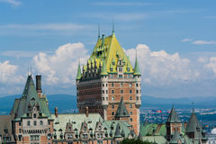 Chateau Frontenac in Quebec. Chateau Frontenac, best known landmark of Quebec, Canada Stock Photography