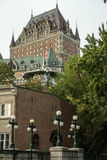 Chateau Frontenac in Quebec Royalty-vrije Stock Foto