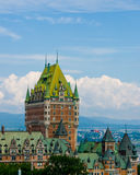 Chateau Frontenac in Quebec Royalty-vrije Stock Afbeelding