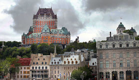 Chateau Frontenac in Quebec - Canada. Royalty Free Stock Photo