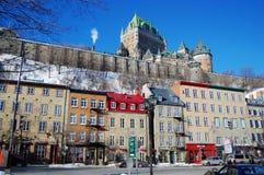 Chateau Frontenac, Quebec City. Chateau Frontenac in Quebec City in winter, Quebec City, Canada stock photos