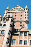 Chateau Frontenac in Quebec City Stock Image