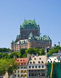 Chateau Frontenac, Quebec City. Chateau Frontenac and Old Quebec, Quebec City royalty free stock photography