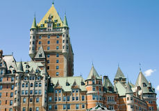 Chateau Frontenac in Quebec City. Chateau Frontenac, one of the most popular historical attractions in Quebec City, Quebec, Canada. It was opened in 1893 stock photo