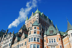 Chateau Frontenac, Quebec City, Canada. Chateau Frontenac, dominate the skyline of Quebec City, a French-style castle hotel builded in 1893, landmark of Quebec royalty free stock image