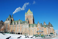 Chateau Frontenac, Quebec City, Canada. Chateau Frontenac, dominate the skyline of Quebec City, a French-style castle hotel builded in 1893, landmark of Quebec royalty free stock photos