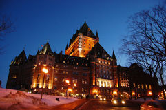 Chateau Frontenac, Quebec City, Canada. Chateau Frontenac, built in 1893 with Chateauesque style, is located at the center of Old Quebec City, Quebec, Canada stock photo