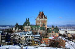 Chateau Frontenac. In Quebec City, Canada royalty free stock image