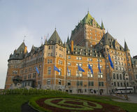 Chateau Frontenac in Quebec City, Canada. The impressive Chateau Frontenac from the terrace in Quebec City Stock Image