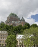 Chateau Frontenac in Quebec City, Canada. The impressive Chateau Frontenac standing above Quebec City old town Stock Photography