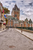 Chateau Frontenac in Quebec city, Canada Stock Photos
