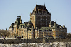 Chateau Frontenac in Quebec City, Canada Royalty Free Stock Image