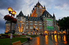 Chateau Frontenac in Quebec City Royalty Free Stock Photos
